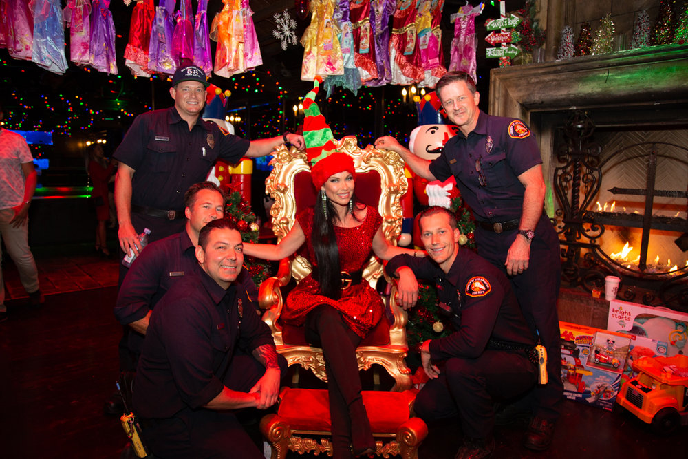 Real Housewives, Fireman & Popstars - The annual event hosted by The Abbey in West Hollywood brings in thousands of toys for Children's Hospital Los Angeles when they need them most.