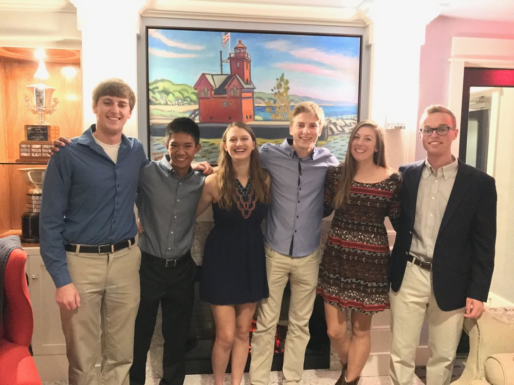 From left to right: DJ Litts, Mike Gapuz, Amy Baer, Austin Haag, Lane Tobin, Mason Wolters