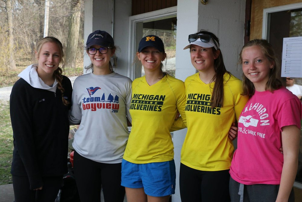 Michigan Sailing Women's Qualifying Team