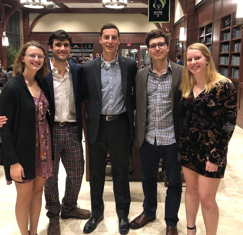 Amy Baer, Jake Orhan, Kyle Doyle, Max Ellsworth, and Sarah Youtt at MCSA Midwinters