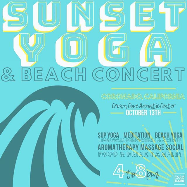 Hey YAD crew! We've missed you! ✌🏼 We have some exciting events happening this month. First up a special collab with CCAC. 🌊 Surf meets the sand in an epic float & flow. - - 🏄#SUPyoga #SunsetYoga #Meditation #Massage #Aromatherapy and #Music = ALL of our favorite things. We have a legendary lineup beachside that you won't want to miss! For tix + info head to yogaafterdarkevent.com or the link in our bio. - - PS : First 20 people get discount and FREE PARKING 🤭🙌🏼