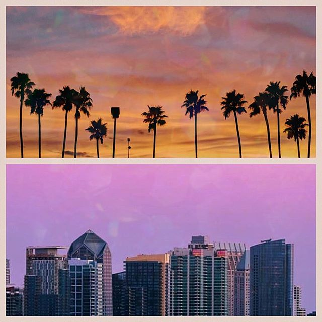 San Diego sunset meets the skyline for a magical moment ✨ - - October 24th will be an epic rooftop flow al fresco followed by our feature film under the stars. #EATPRAYLOVE - - For tix and more information head to yogaafterdarkevent.com or the #linkinbio 🙌🏼
