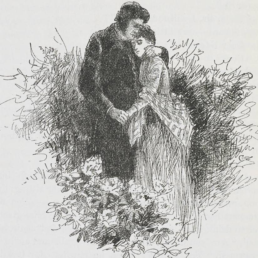 Jane Eyre and Edward Rochester from Edmund Garrett's illustrations (1897)
