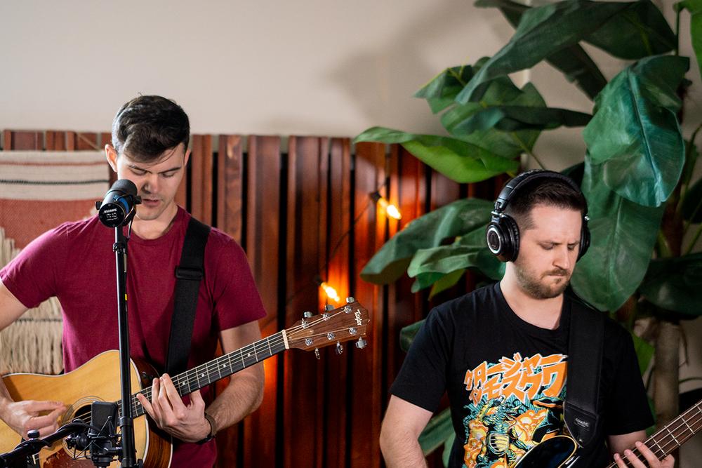 Dusk (Trent Lead vocals (Left) Michael during LA Live Sessions