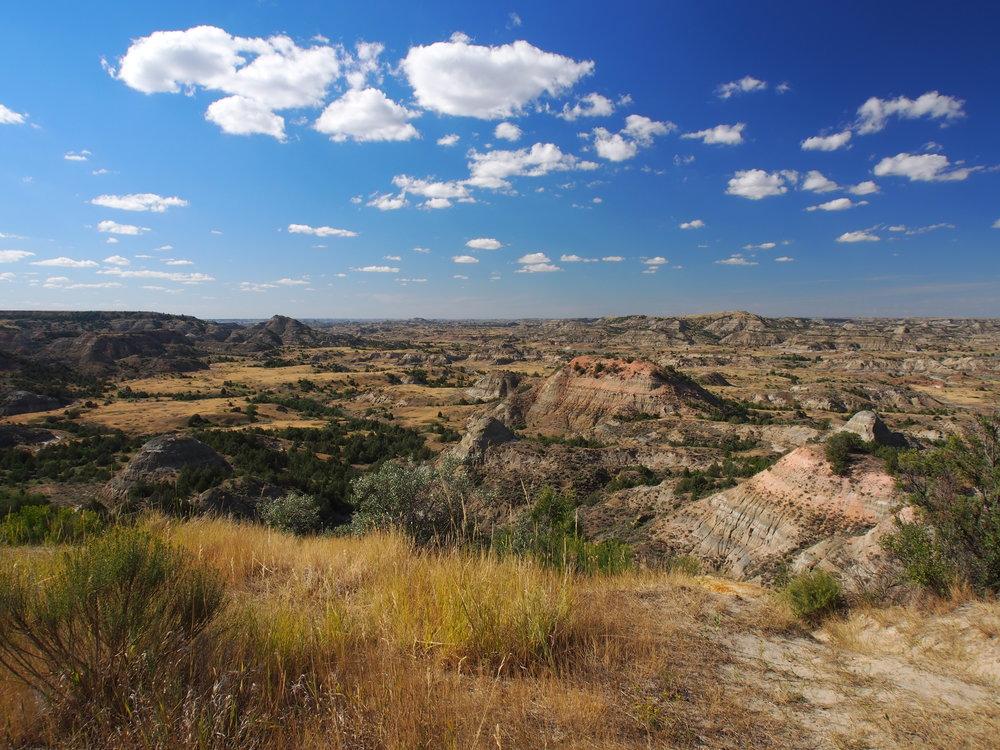 The badlands of North Dakota.