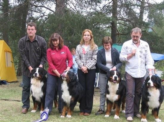 "Best Breeding Group – 1st of 4 entered ""Dale Gudbrand´s Kennel"""