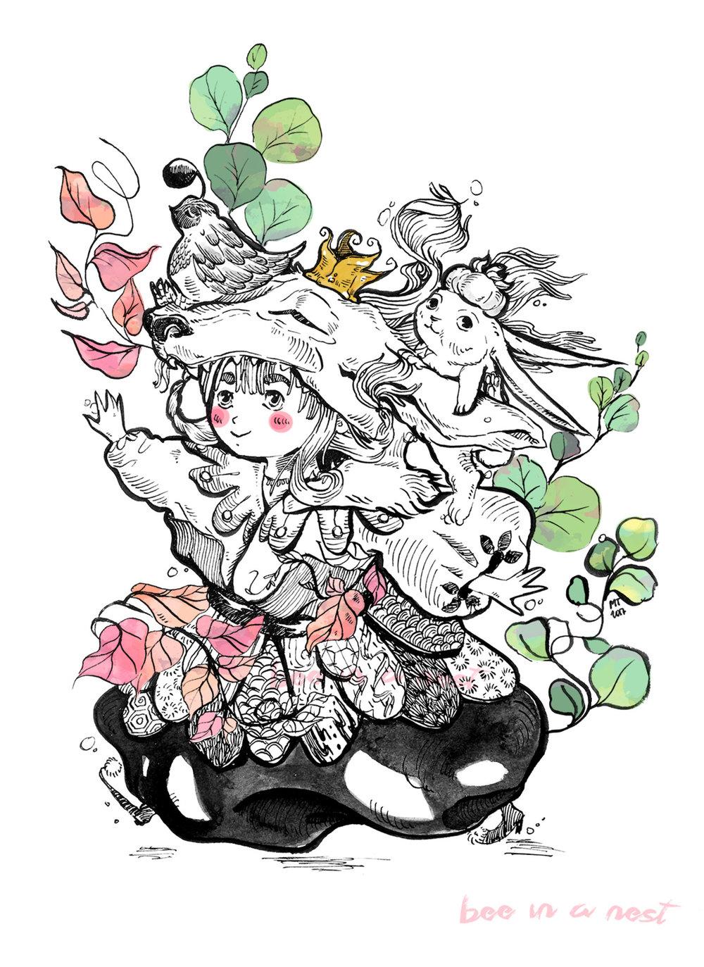 Non dimenticare come si fa a giocare - Allegra e sprezzante del pericolo, corre veloce nei campi della sua fantasia. Nessuno puòfermala e nessuno puòvincere. C'é una piccola bambina lupo in ognuna di noi.