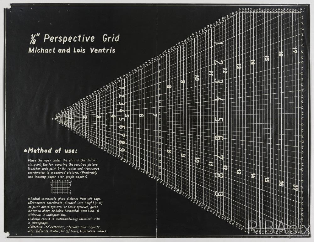 DESIGNS FOR AN 1/8 INCH PERSPECTIVE GRID: PLAN
