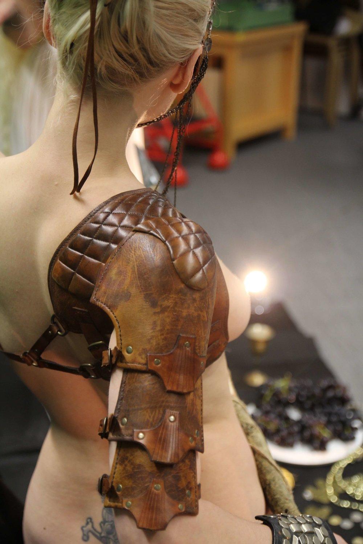Manko in leatherwork by Rob Goodwin