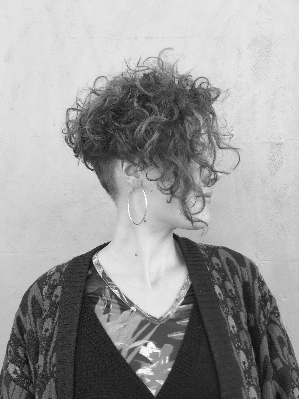80's inspired 'hair do'