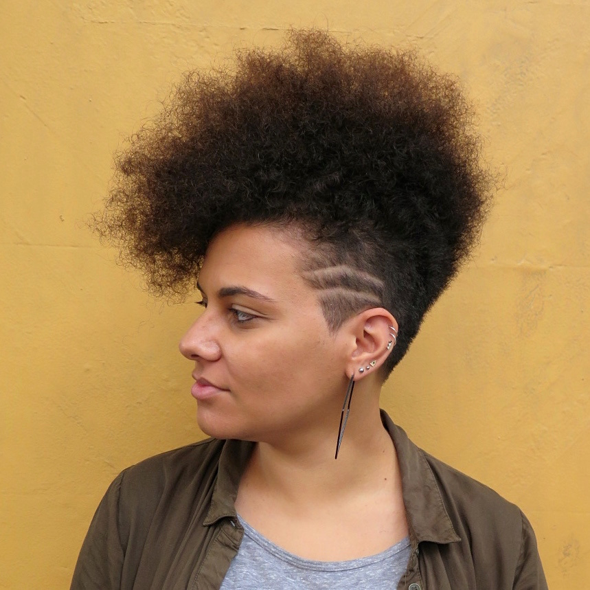 Big fro with 'sidelines'