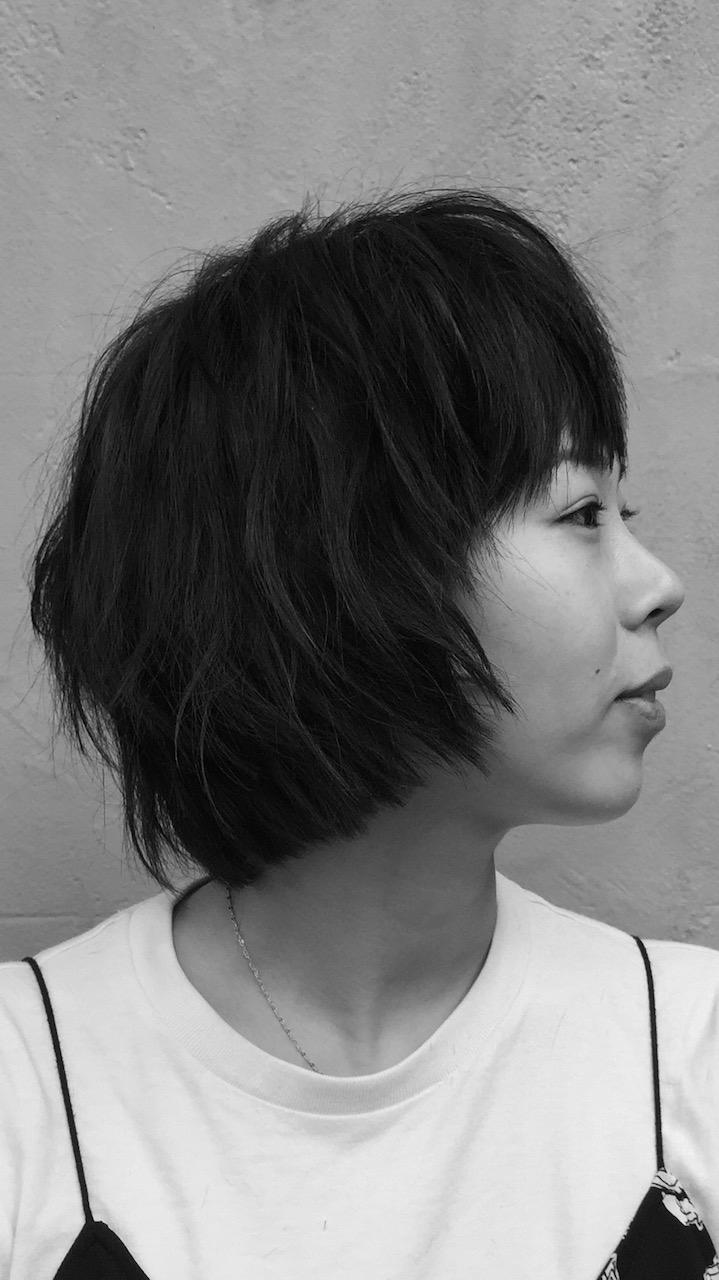 Chin-length 'shag' with a 'bang'