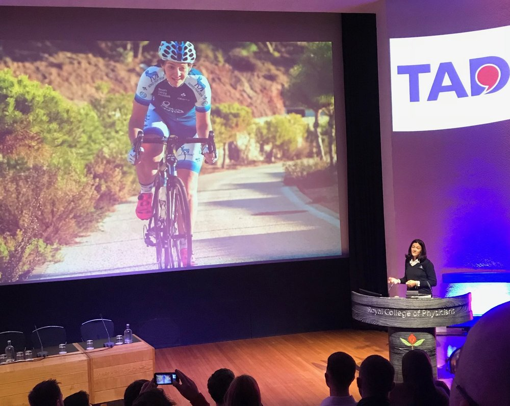 Presenter, Professional Cyclist and person with type 1 diabetes: Becky Furuta