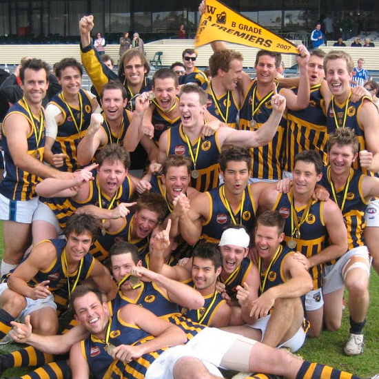 2007 - West Coast goes back to back in B Grade, coached by Tom Wagner