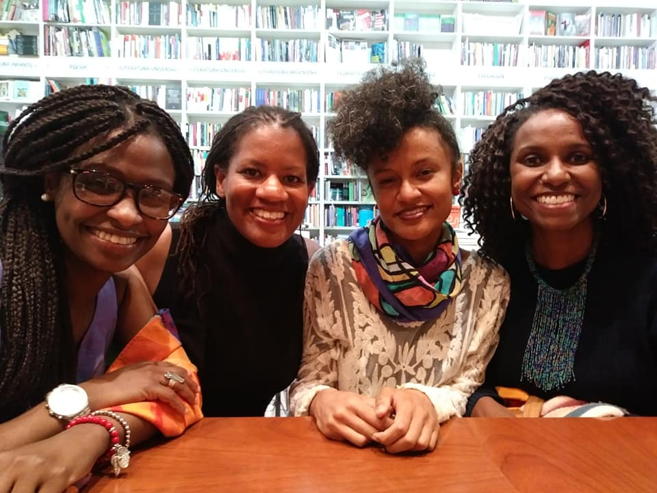"Dr. Erika Edwards (2nd From Left)   during the taping of the soon to be released documentary  Black Buenos Aires.  There was no need for a script. These women were asked ""What is it like to be Black in Buenos Aires?"" They had so much to say and two hours later it was a wrap."