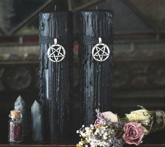Pentagram Candles