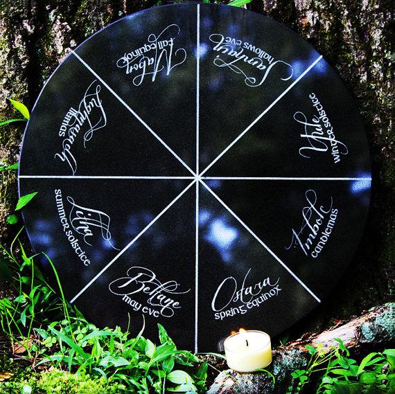 Wheel of the Year Granite Altar Stone
