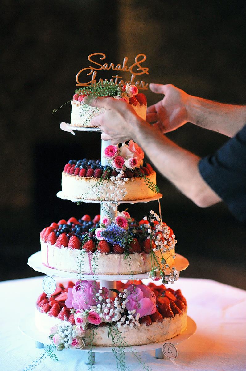 Mmmmhhh… - ..die wunderschöne Hochzeitstorte von Sarah und Christopher.