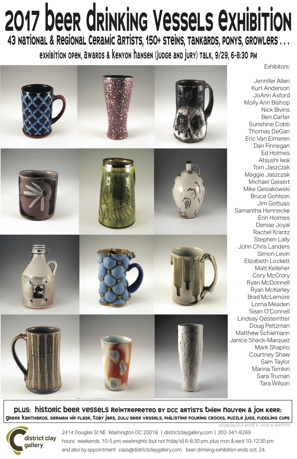 FEATURING 43 NATIONAL AND REGIONAL ARTISTSSEPTEMBER 2017 - BEER VESSELS