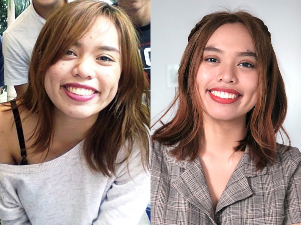 Loreal Ash Brown Before and After.jpg