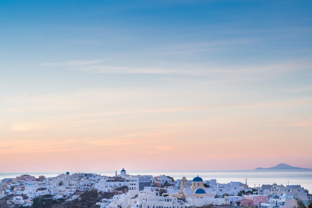 Sunset over Oia, Santorini.  Sony A9, Leica 90mm f2 Summicron