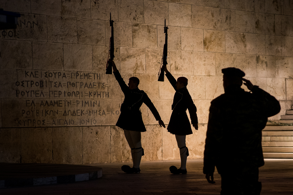 Changing of the guard, Tomb of the Unknowns, 5 a.m.  Sony A9, Leica 75mm f1.4 Summilux