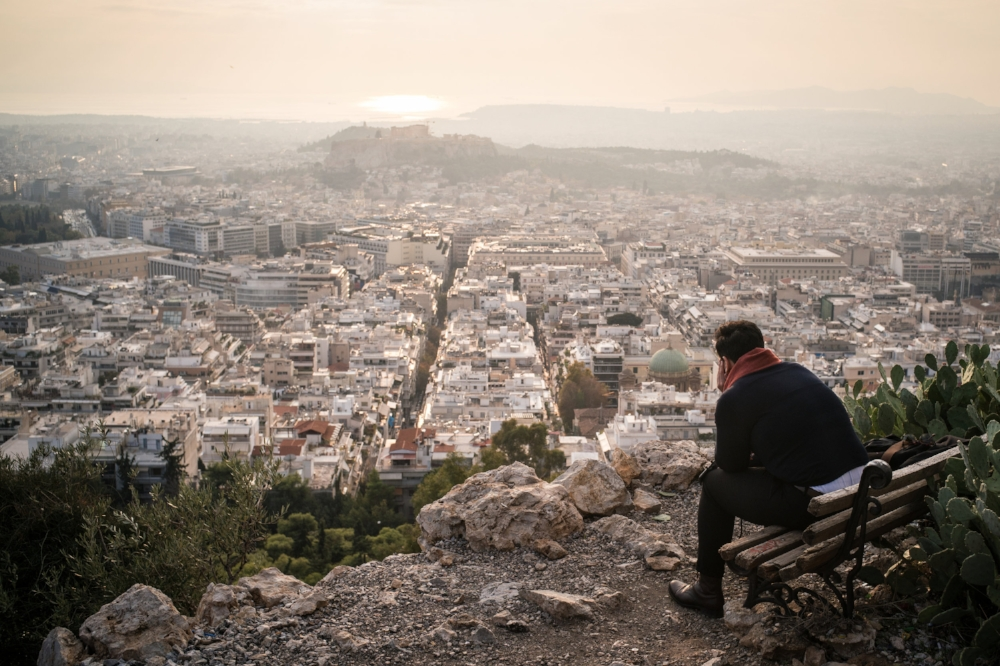 Athens as seen from Lycobettus Hill at sunset.  Sony A9,Leica 35mm f1.4 Summilux