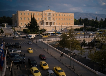 Parliament building from the King George hotel, Syntagma Square, Athens.  Sony A9,Leica 35mm f 1.4 Summilux
