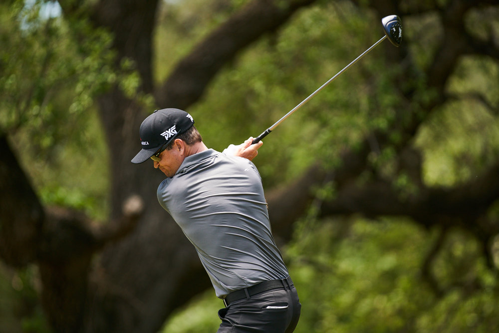 ...from Zach Johnson's real swing.  Sony A9, Canon EF 400mm f2.8L-II