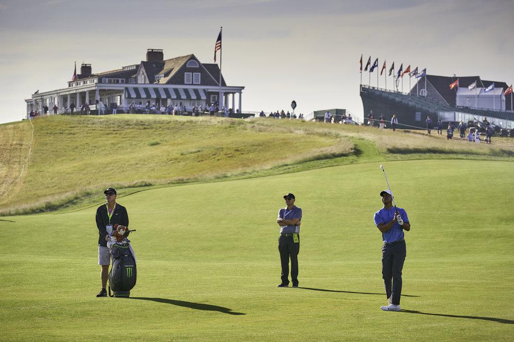 Tiger Woods, 1st fairway, Tuesday practice round.   Sony A9, Sony 70-200mm f2.8 GM-OSS. ©USGA/Darren Carroll