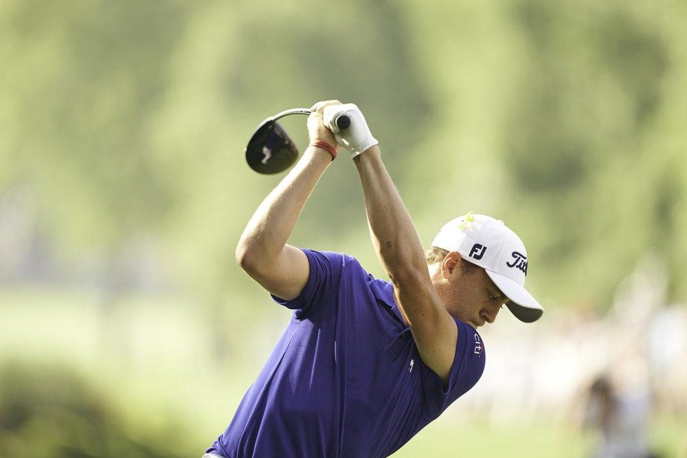 Justin Thomas, 2018 PGA Championship.  Sony A9, Sony 400mm f2.8 GM OSS.