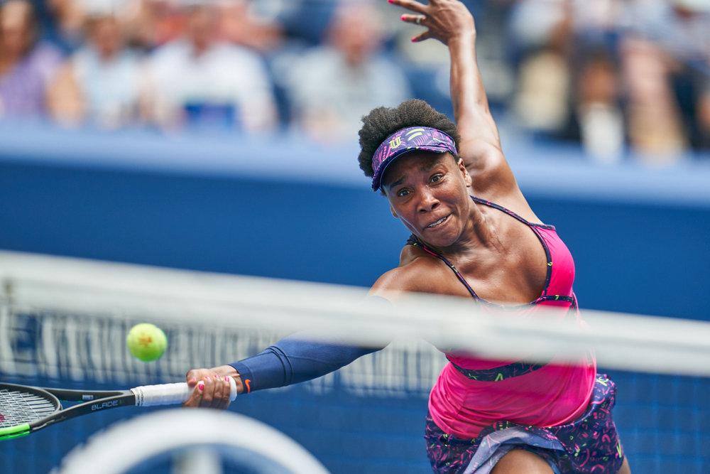 Venus Williams, Arthur Ashe Stadium, 1st round Women's Singles  Sony A9, Sony 400mm f2.8 GM-OSS