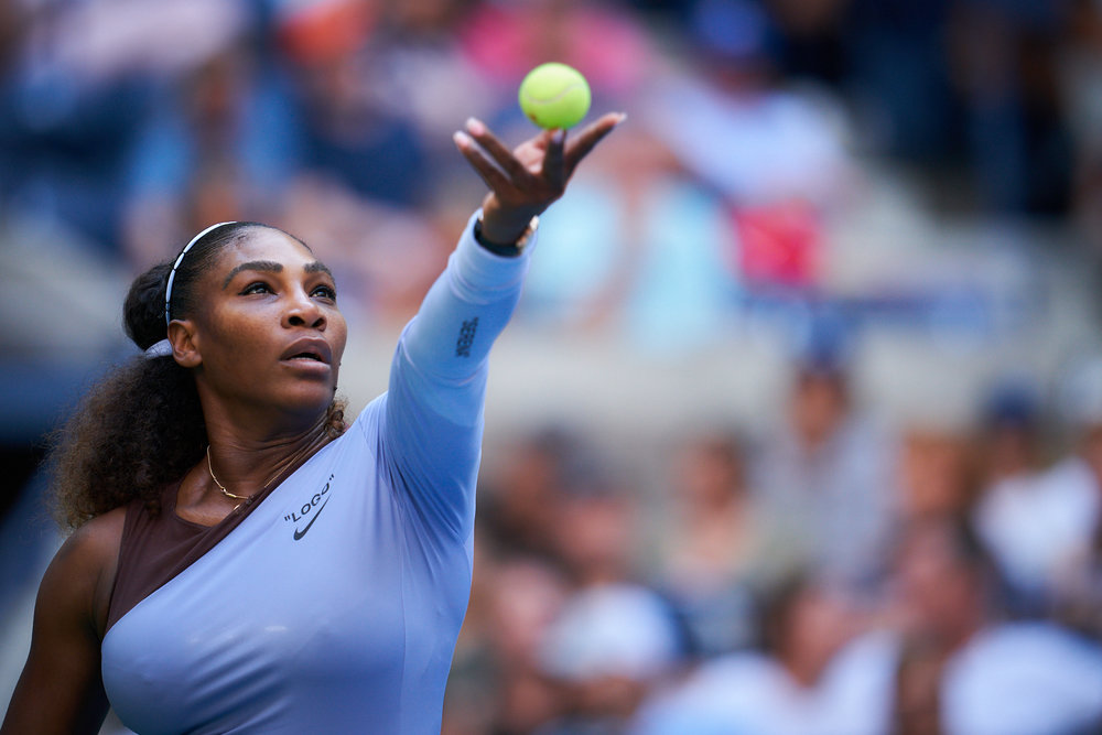 Serena Williams, Arthur Ashe Stadium, 3rd round Women's Singles  Sony A9, Sony 400mm f2.8 GM-OSS