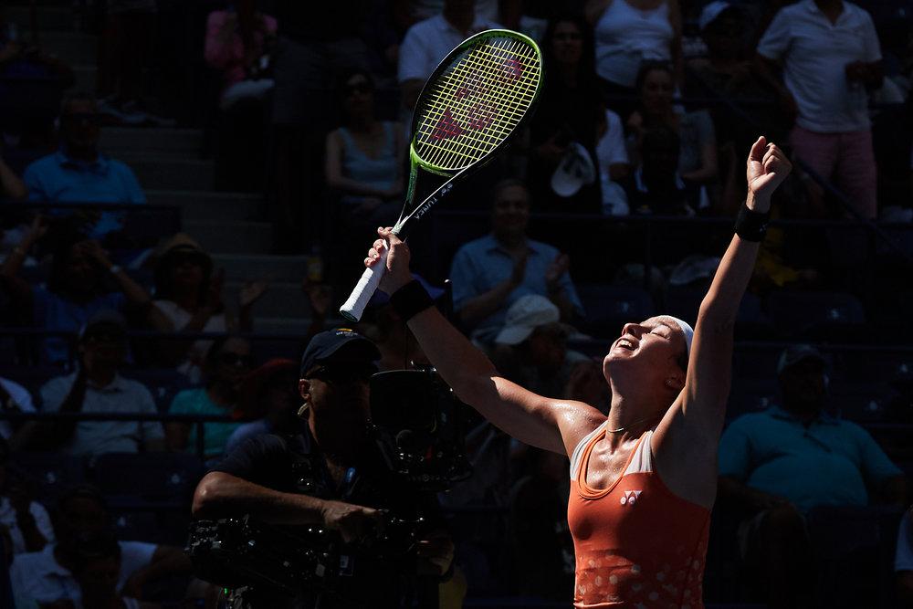 Anastasija Sevastova, Arthur Ashe Stadium, Women's Singles Quarterfinal  Canon EOS 1DXm2, EF-L 70-200mm f2.8 II
