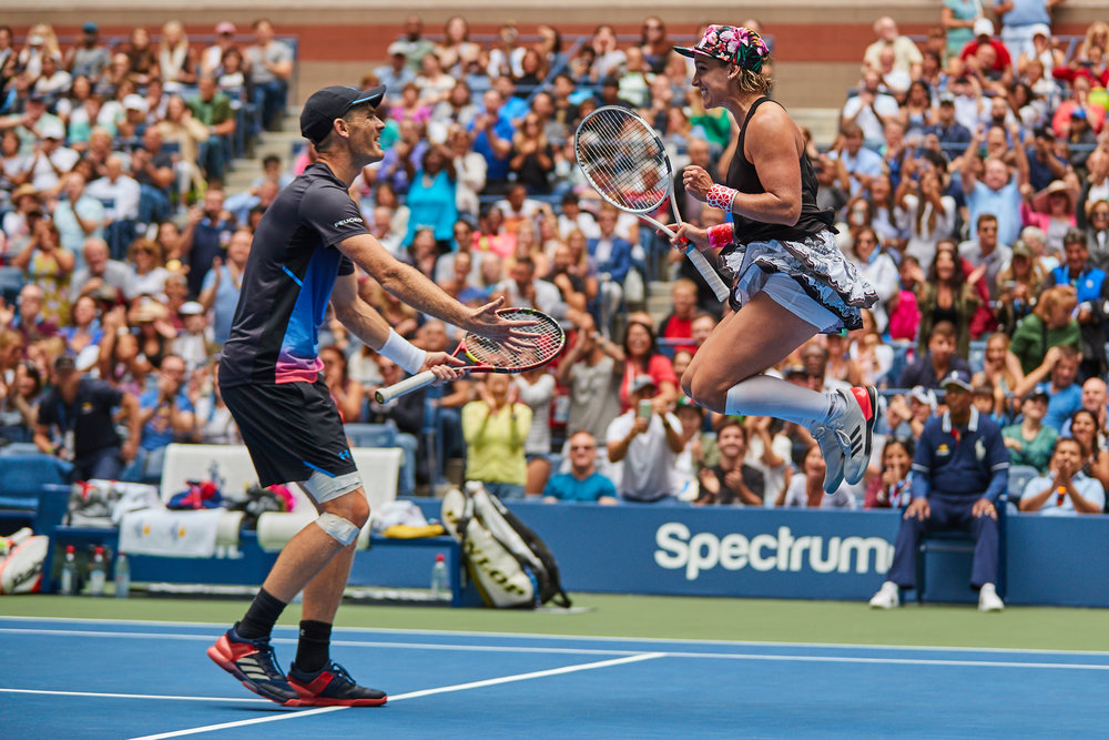 Jamie Murray and Bethanie Mattek-Sands, Arthur Ashe Stadium, Mixed Doubles Final  Canon EOS 1DXm2, EF-L 70-200mm f2.8 II