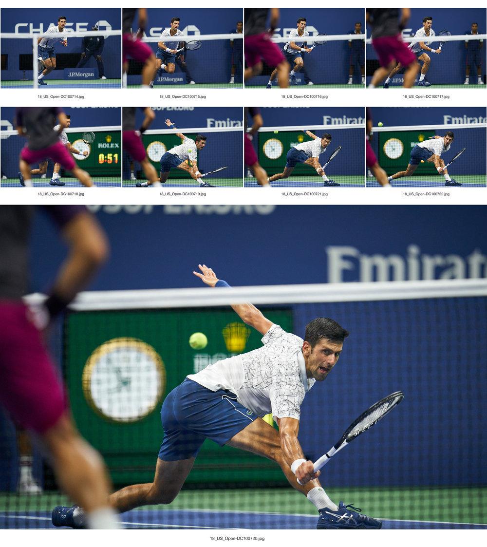 Novak Djokovic, Arthur Ashe Stadium, Men's Singles semifinal  Sony A9, Sony 400mm f2.8 GM-OSS