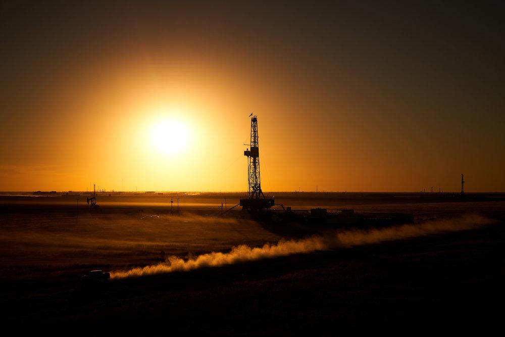 Oil fields in the Delaware Basin, Coyanosa, Texas, for Parsley Energy.  Sony A7rIII, Sony 24-70mm f2.8 GM