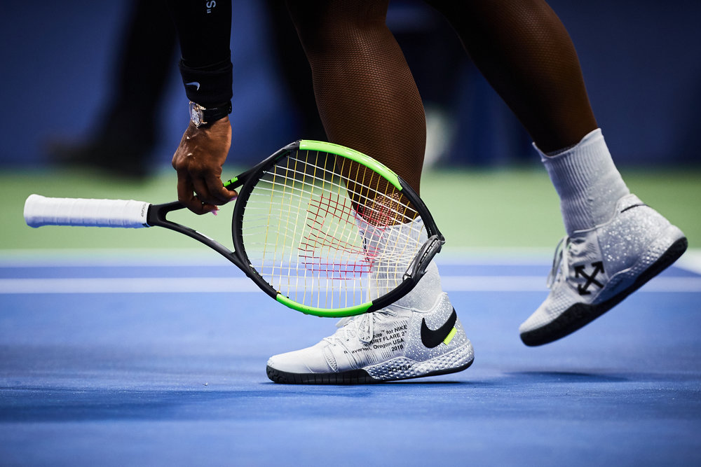 Serena Williams, 2018 U.S. Open Championship, Queens, New York for the United States Tennis Association.  Canon 1DX Mark II, Canon EF 300mm f2.8 L-II