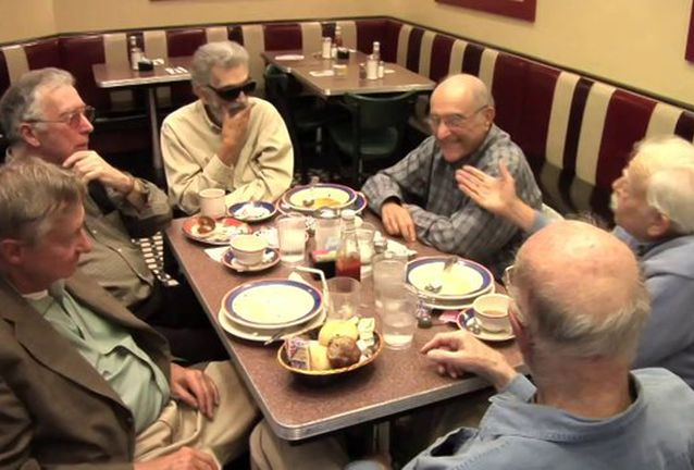 The R.O.M.E.O.s - The ROMEOs is a short documentary film about long relationships — good conversation amongst old friends. And were talking old friends. ROMEO is an acronym for Retired Old Men Eating Out and features an informal club of 5 old time New Yorkers, men aged 72 to 87, who have met every week for the past 20 years at the Metro Diner in New York City. It is a long lunch to talk about anything and everything; telling old jokes, making fun of each other, complaining about politics. They are retired lawyers, writers and left-wing troublemakers and they are utterly hilarious without even trying. This is what the conversation would be like if the guys from Diner hung out 50 years after the movie.Katy Chevigny, Producer and Director