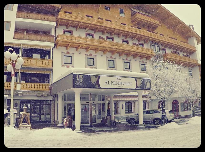The entrance to AlpenHotel