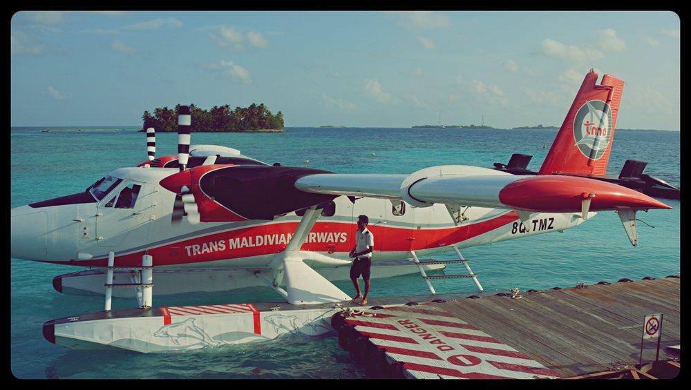 Trans Maledivian aeroplane