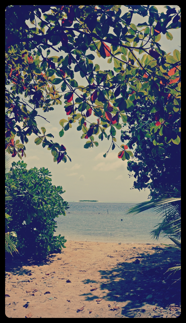 Publiczna plaża na wyspie Rasdhoo