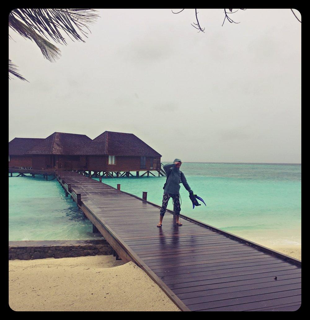 Nawet na Malediwach potrafi lać!