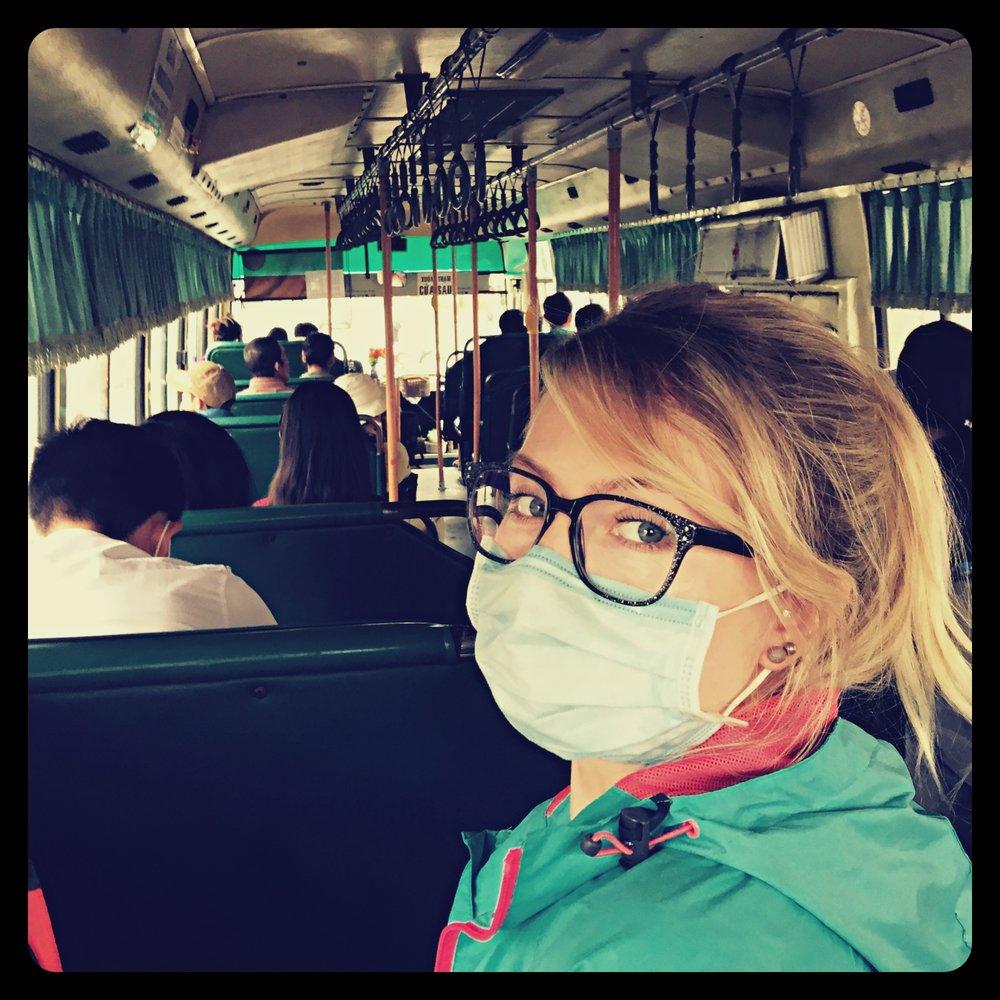 W miejskim autobusie