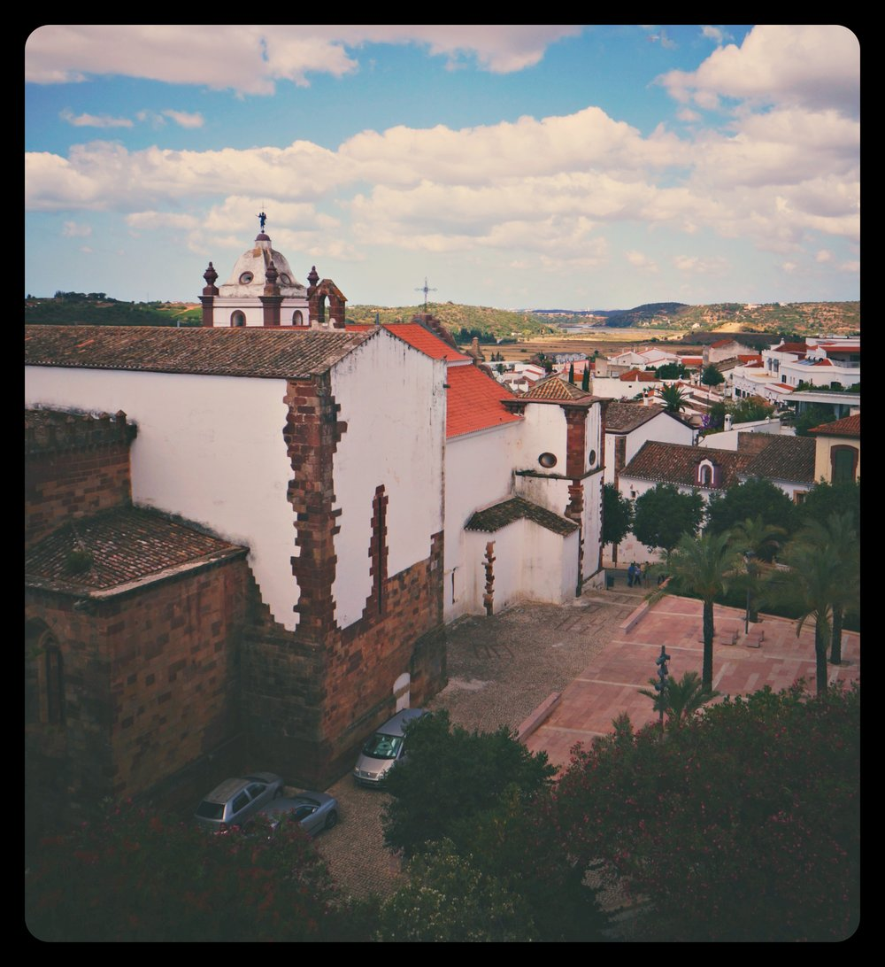 Characteristic architecture of houses in Algarve