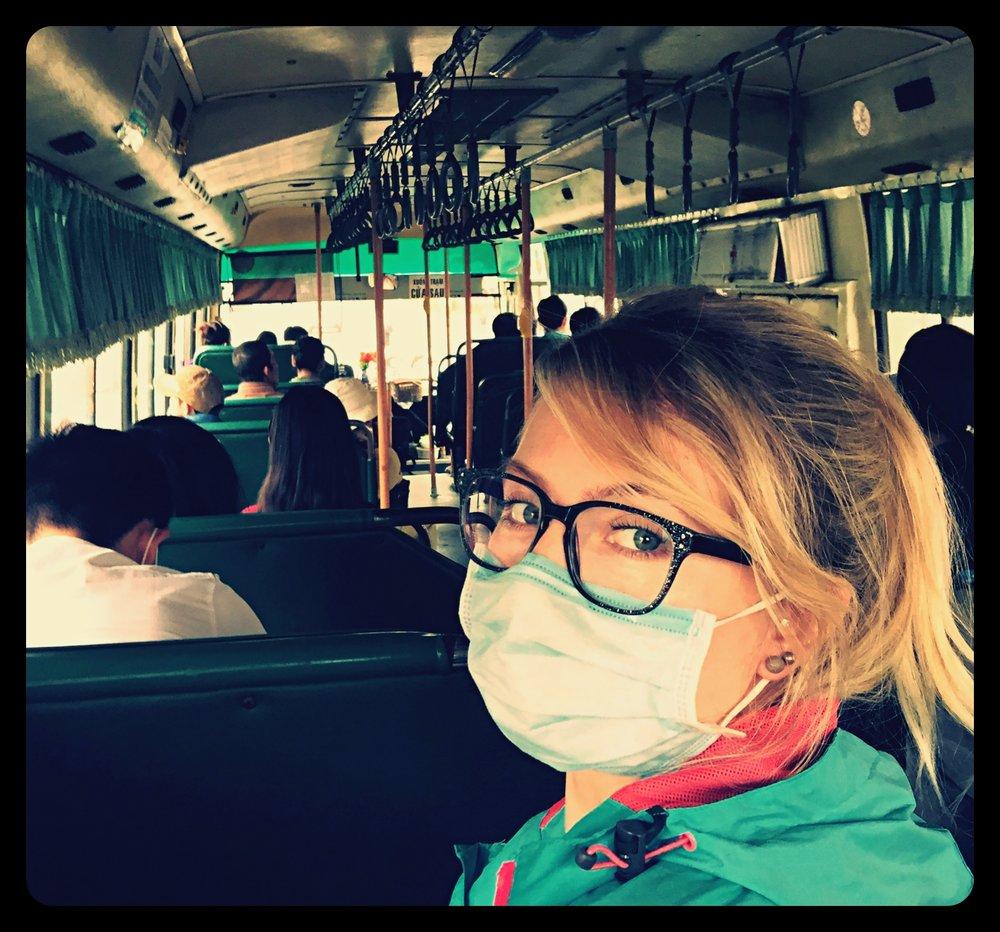 W miejskim autobusie (Ho Chi Minh)