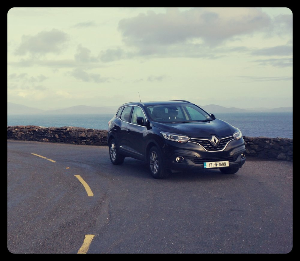 Rented car parked in Dingle Peninsula