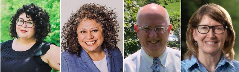 Ward 1 candidates Olivia Trimble and Sonia Gutierrez and Ward 4 candidates John La Tour and Teresa Turk