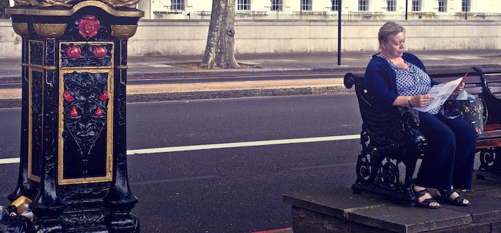 Bus stop, London, England