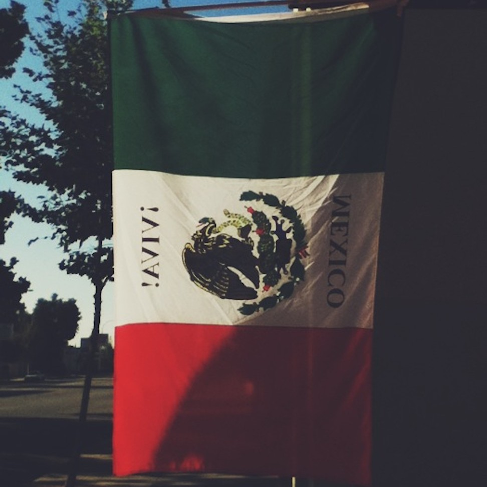 Mexican flag, pasadena, california